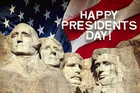 Hope everyone has a GREAT Presidents Day Weekend!