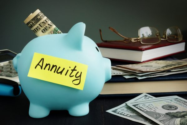 What is the distinction between a fixed annuity and a variable annuity